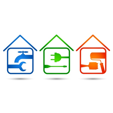 icon set for construction and home renovation