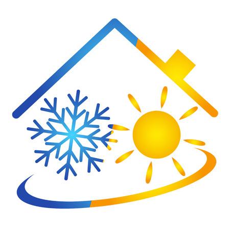 Ilustración de Air conditioner vector design, service - Imagen libre de derechos