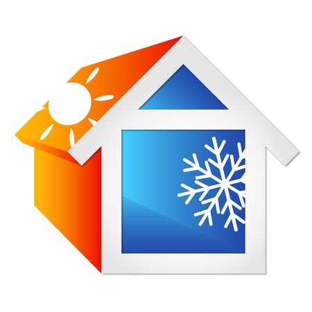 Illustration for Air conditioning for the home, symbol of business - Royalty Free Image