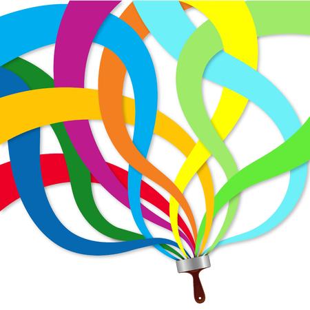 Illustration pour Paintbrush colorful abstraction - image libre de droit