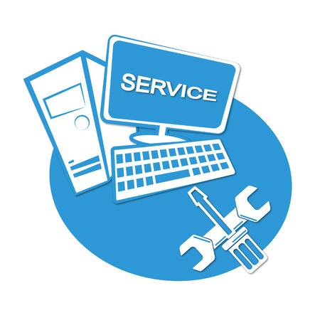 Computer repair business emblem for vector