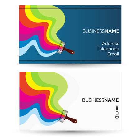 Illustration for Business card for painting - Royalty Free Image