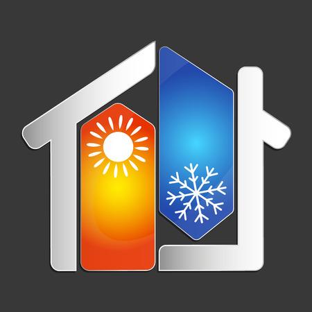 Ilustración de Air conditioning at home for business vector - Imagen libre de derechos