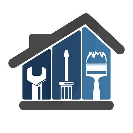 Illustration pour Repairs in the house emblem for Business - image libre de droit