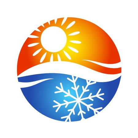 Ilustración de Symbol of air conditioning for the house, the temperature regime - Imagen libre de derechos
