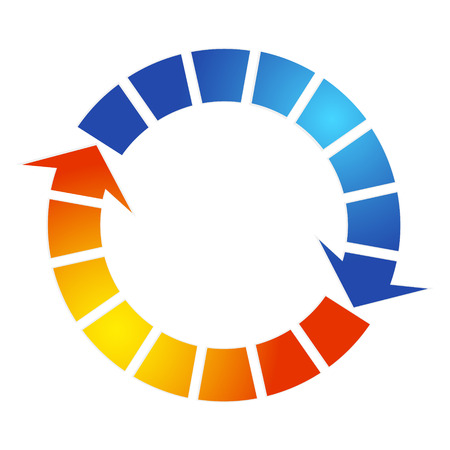 Ilustración de Air conditioning design arrow symbol - Imagen libre de derechos
