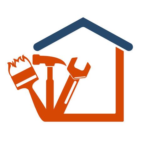 Illustration pour Home repair with the tool symbol vector Business - image libre de droit