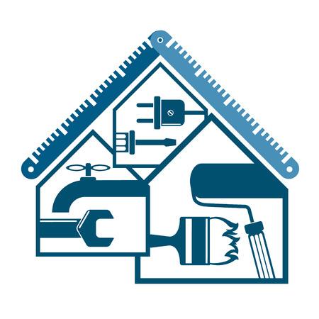 Illustration pour Repair and maintenance of home symbol for business - image libre de droit