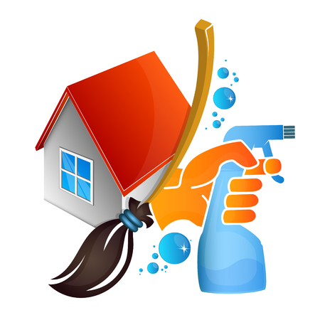 Illustration pour Service of cleaning and washing at home - image libre de droit