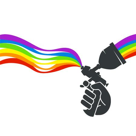 Illustration pour Paint spray - image libre de droit