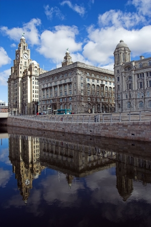 The new canal across the front of the Liverpool pierhead