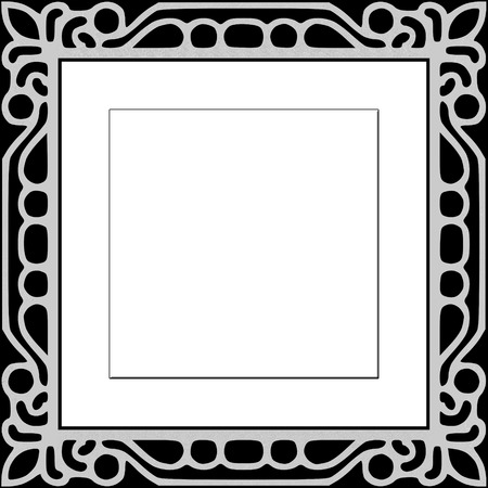 Black Frame effect with patterns for photos