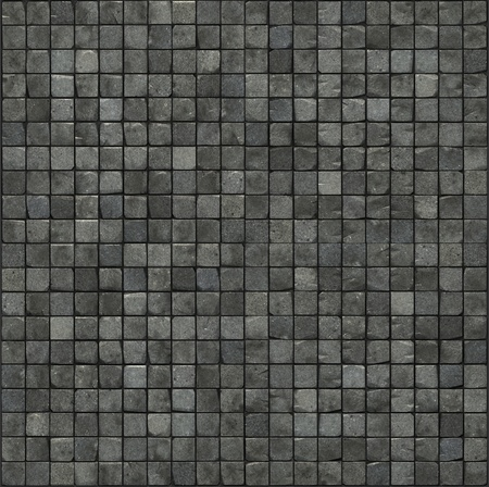 large 3d render of a gray smooth stone mosaic wall floor