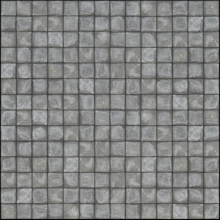 detailed 3d render of square pavement tiles in gray stone concrete