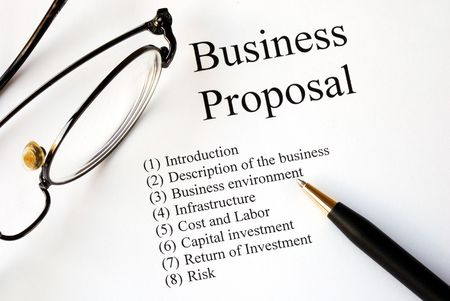 Photo for Focus on the main topics of a business proposal - Royalty Free Image
