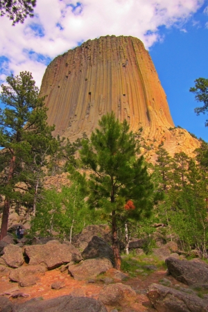 Devil s Tower national monument in Wyoming USA