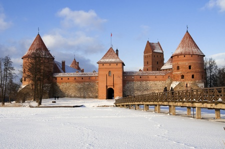Famous m edieval castle in Trakai near Vilnius, Lithuania