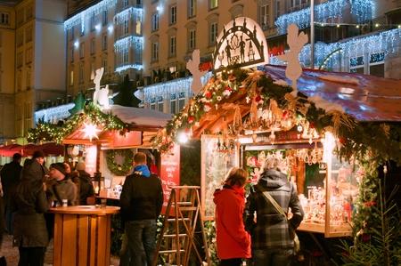 DRESDEN, GERMANY - DECEMBER 20: People enjoy Christmas market in Dresden on December 20, 2010 in Dresden, Germany. It is Germany