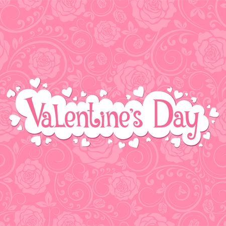 Vector illustration with beautiful roses for Valentine's day