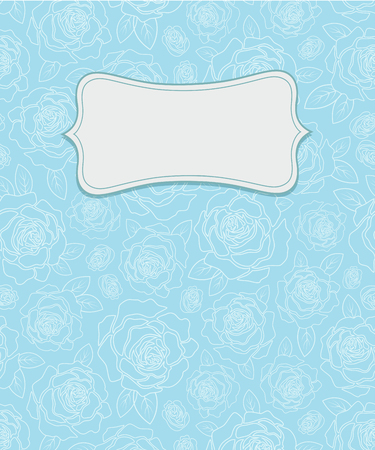Vector vintage background with beautiful roses