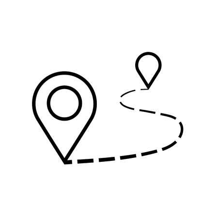 Illustration for Distance icon illustration isolated vector sign symbol. - Royalty Free Image