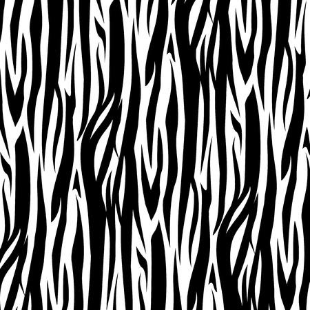 Illustration for Zebra Stripes Seamless Pattern vector illustration. Black and white - Royalty Free Image