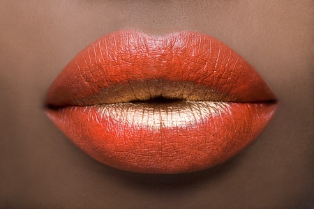Red & Gold Lips