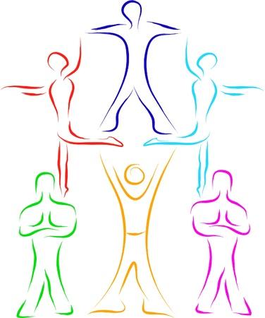 teamwork people sketch