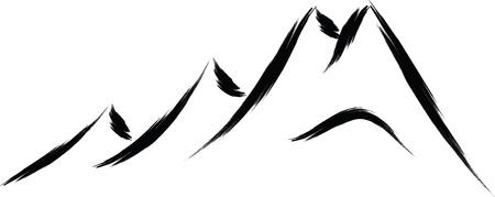 Illustration pour mountain nature sketch - image libre de droit