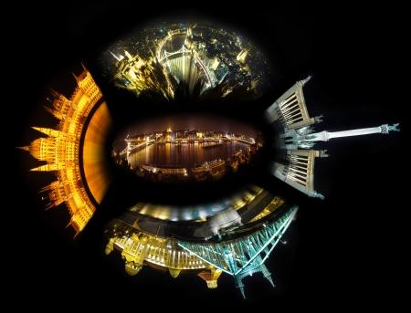Budapest night collage