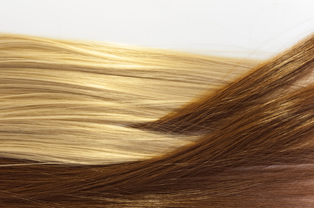 Photo for blond and brown hair texture - Royalty Free Image
