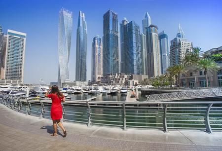 Photo for Dubai Marina city in United Arab Emirates. travel concept - Royalty Free Image