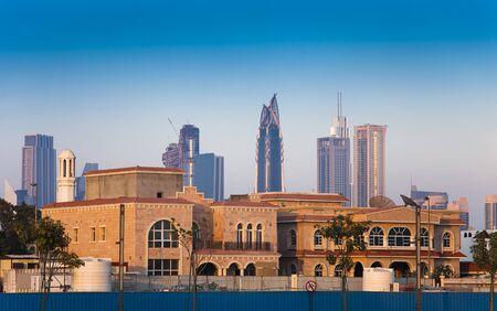 Photo for old and new city of Dubai, United Arab Emirates - Royalty Free Image