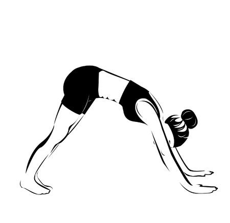 Yoga position. Adho Mukha Shvanasana