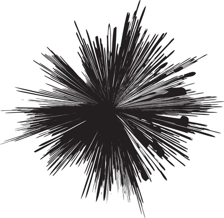 detailed vector of a black and white line explosion