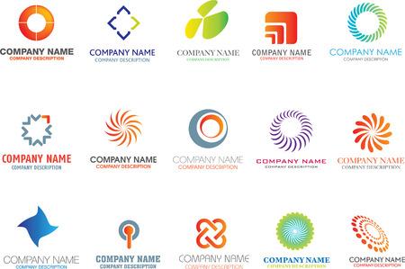 Illustration pour set of corporate logos symbols and marks - image libre de droit