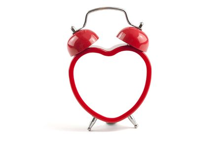 heart shaped alarm clock with blank inside ready for message