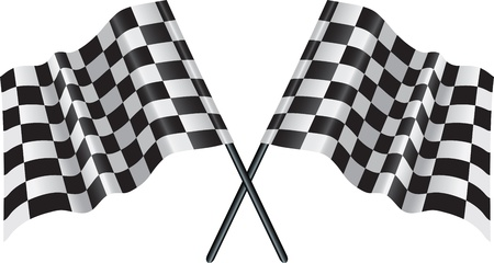 Illustration pour crossed falgs representing sport or finishing lines - image libre de droit