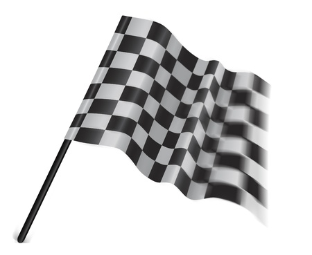 motor sport flag isolated on a white background