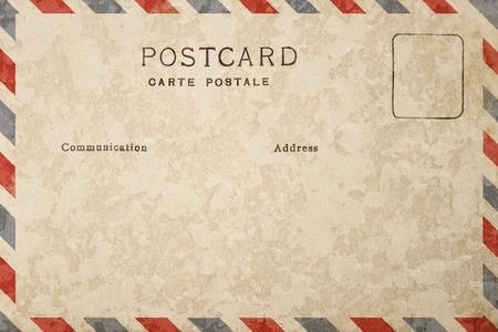 Photo pour Back of vintage blank postcard with dirty stain - image libre de droit