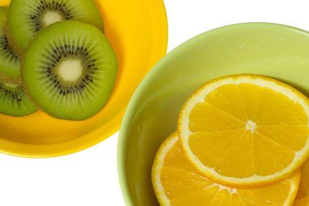 Fruits with vitamin C -  Kiwi fruit and Orange