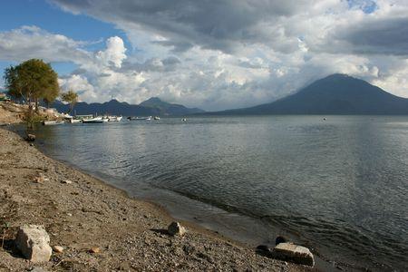 The beautiful lake of Atitlan in Guatemala