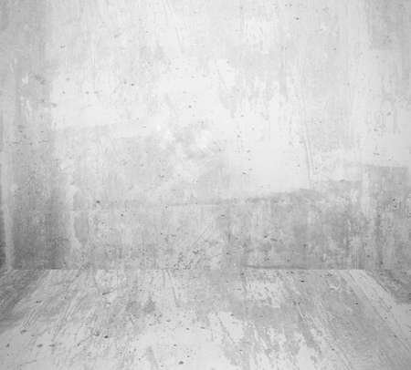 Photo pour interior room with grunge white wall and floor - image libre de droit