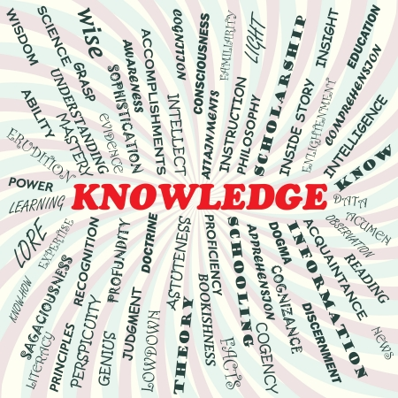 illustration of knowledge concept