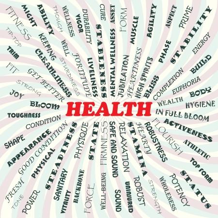 illustration of health concept