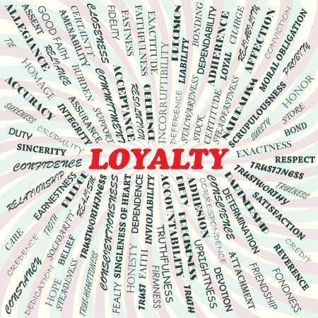 illustration of loyalty concept