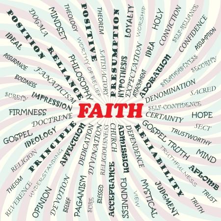 illustration of faith concept