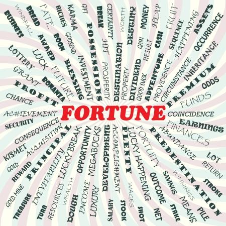 illustration of fortune concept