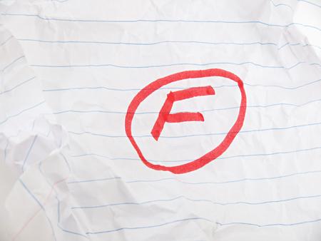 A poor school grade
