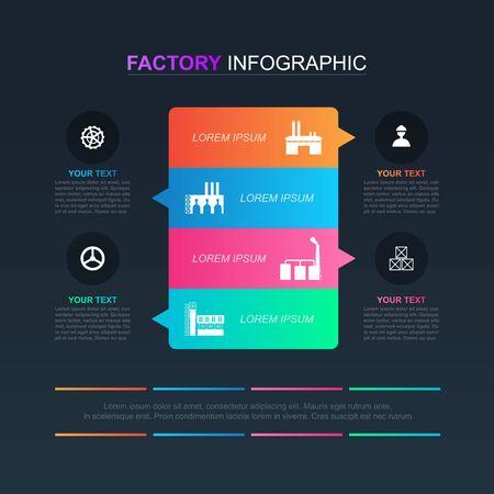 Illustration pour Option Scheme Chart Graph Diagram Analytics Factory Industrial Business Infographic - image libre de droit